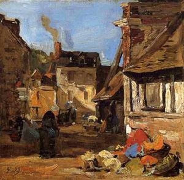 Honfleur the Saint Catherine Market Place 1867 1870